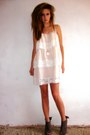 Peach-layerd-lace-h-m-dress-teal-silk-vintage-jacket-tan-miss-selfridge-heel