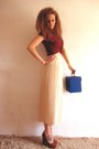 Blue-record-box-vintage-bag-brick-red-suede-new-look-heels-neutral-midid-len