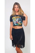 Vintage Black Suede Skirt