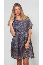 Vintage Babydoll Paisley Mini Dress