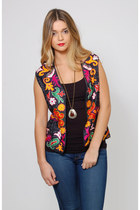 Vintage 70s Embroidered Boho Vest