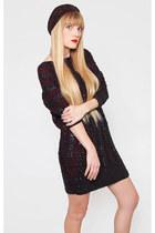 Vintage Black Sequin Sweater Dress