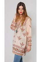 Vintage Boho Ethnic Tunic Dress