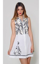 Vintage White Nautical Mini Dress