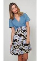 Vintage Denim Babydoll Dress