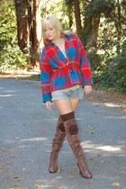 vintage boots - vintage jacket