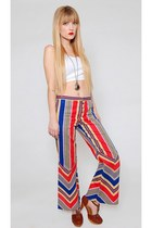 Vintage 60s Rainbow Flared Pants