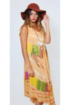 Vintage Tie Dye Hippie Boho Tent Dress