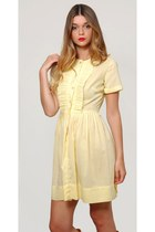 Vintage Yellow Babydoll Mini Dress