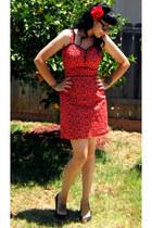ruby red Louise Amabilis dress