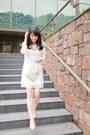 White-lace-dress-ivory-asos-bag
