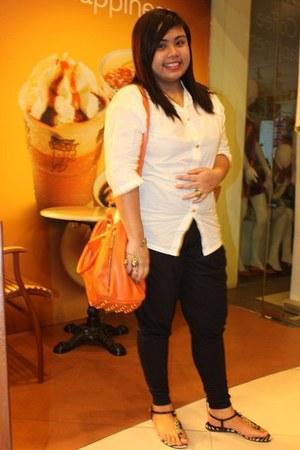 Shop Yapi blouse - Oxygen leggings - mags bag - Charles & Keith sandals