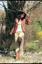 faux leather Bershka jacket - faux leather f21 boots