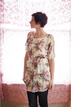 ivory floral dress
