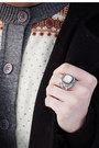 Navy-levis-jeans-white-vintage-sweater-silver-jgood-ring