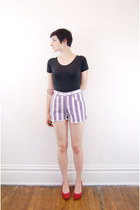 striped vintage shorts