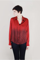 ruby red ombre blouse