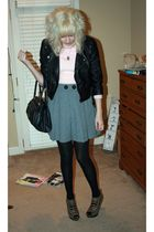 pink vintage sweater - silver Beckerman shorts - black Target tights - brown go