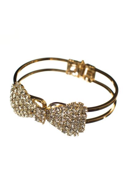 gold crystal Love Stylize bracelet