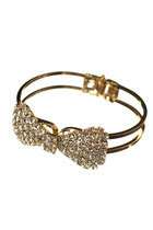 gold crystal Love Stylize bracelet
