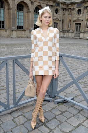 cream Louis Vuitton dress