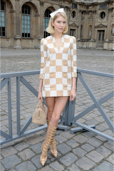 cream Louis Vuitton dress
