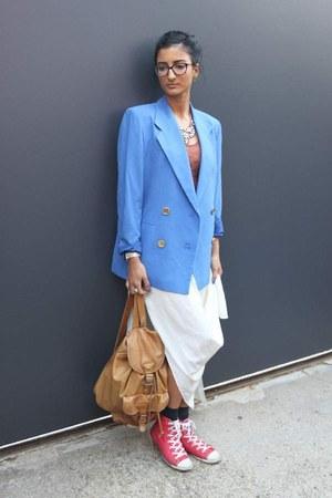 blue thrifted blazer