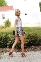 ivory cynthia rowley shirt - black Zara bag - heather gray Forever 21 shorts