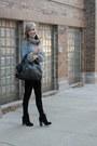 Black-forever-21-boots-heather-gray-zara-sweater-black-rag-bone-pants