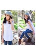 felt Scha hat - silk Equipment blouse