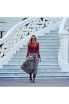 SANDRO top - Gucci bag - MiuMiu sunglasses