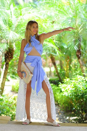Trina Turk shorts - MDS Stripes top - Yosi Samra flats