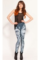 Black Bone Leggings