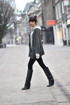 Isabel Marant boots - H&M leggings - IRO cardigan - H&M Mens hoodie