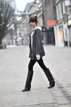 Isabel Marant boots - H&M leggings - IRO cardigan - H&M Mens hoodie
