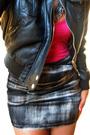 Pink-heartbreakers-t-shirt-black-len-druskin-jacket-gray-picky-girl-skirt-