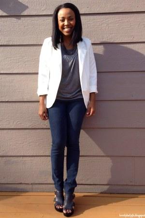 white Sheinsidecom blazer