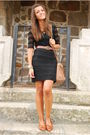 Black-h-m-dress-brown-bimba-lola-purse-brown-vintage-shoes