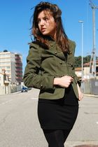 green Zara blazer - black pull&bear dress