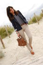 Blue-zara-jacket-brown-bimba-lola-purse-beige-zara-pants-blue-pull-bear-