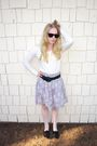 Unknown-brand-sunglasses-thrifted-target-sweater-h-m-skirt-forever-21-legg