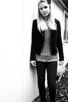 Forever21 jacket - Thrifted Gap sweater - American Eagle jeans - Payless Shoes b