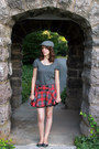 Hat-polka-dot-forever-21-shirt-plaid-forever-21-skirt