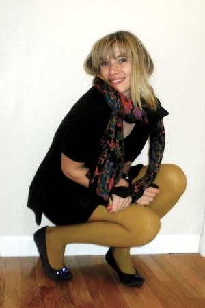 black Forever 21 dress - orange H&M accessories - purple Old Navy shoes