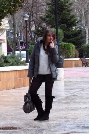 Marypaz boots - Zara coat - OASAP shorts - Bershka jumper