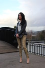 Dark-gray-blazer-black-primark-bag-gold-pants-nude-blanco-pumps