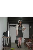 coat - belt - Ebay shoes - purse