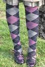 Beige-thrift-coat-purple-ebay-stockings-purple-zara-hat-purple-aldo-shoes