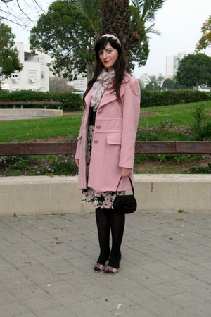 pink thrift Kookai dress dress - pink thrift Zara coat coat