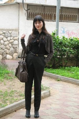 gray Zara pants - brown Nine West purse